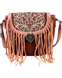 Montana West Fringe Handbag with Love Shape Turn Lock, , hi-res
