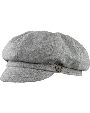Stormy Kromer Women's The Gatsby Cap, Charcoal Grey, hi-res