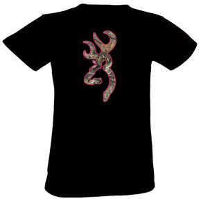 Browning Women's Black Country Buckmark Short Sleeve Tee, Black, hi-res