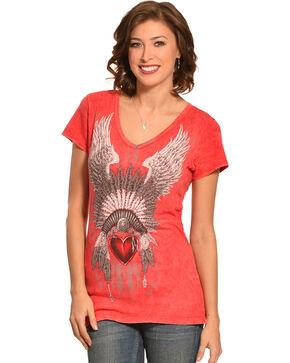 Liberty Wear Women's Head Dress Top, Red, hi-res