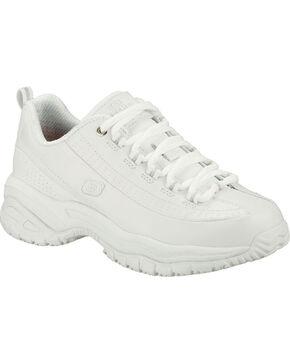 Skechers Women's White Soft Stride Softie Slip Resistant Work Shoes , White, hi-res