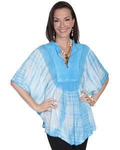 Scully Women's Tie-Dye Poncho Blouse, , hi-res