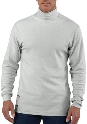 Carhartt Flame Resistant Long Sleeve Grey Mock Turtleneck, Grey, hi-res