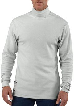 Carhartt Flame Resistant Long Sleeve Grey Mock Turtleneck - Big & Tall, , hi-res