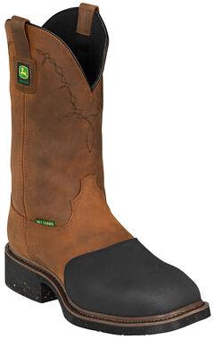 John Deere Men's Fire-Resistant Western Work Boots - Steel Toe, , hi-res
