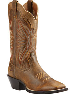 Ariat Round Up Outfitter Vintage Cowgirl Boots - Square Toe, , hi-res