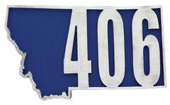 Montana Silversmiths Montana State 406 Attitude Buckle, , hi-res