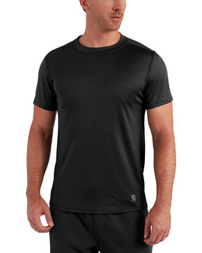 Carhartt Men's Base Force Extremes Lightweight Short-Sleeve T-Shirt , Black, hi-res