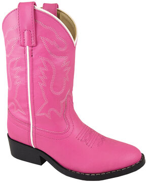 Smoky Mountain Youth Girls' Monterey Western Boots - Round Toe, Pink, hi-res