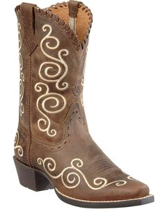Ariat Youth Girls' Shelleen Cowgirl Boots - Snip Toe, , hi-res