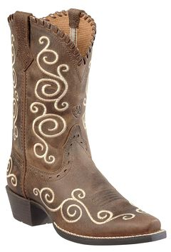 Ariat Girls' Shelleen Cowgirl Boots - Snip Toe, , hi-res
