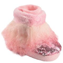 Blazin Roxx Infant Girls' Pink Fur Bootie Slippers, , hi-res
