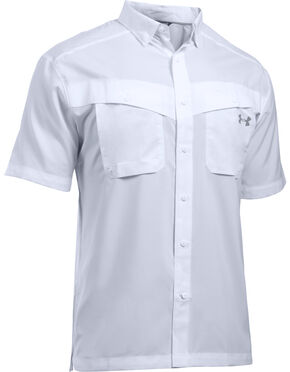Under Armour Men's Tide Chaser Short Sleeve Shirt, White, hi-res