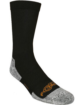 Carhartt Force® Black Work Crew Socks, Black, hi-res