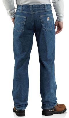 Carhartt Flame Resistant Relaxed Fit Brushed Lining Jeans - Big & Tall, , hi-res