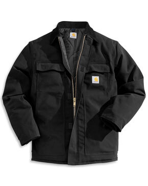 Carhartt Arctic Quilt-Lined Duck Coat, Black, hi-res
