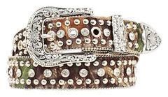 Nocona Mossy Oak Studded Belt, , hi-res
