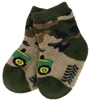 John Deere Infant's Camo Booties, , hi-res