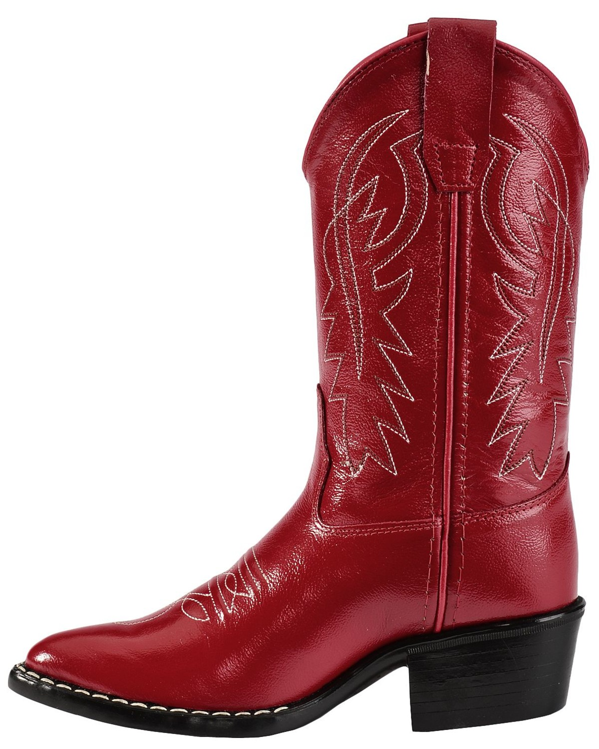 Old West Girls' Red Leather Cowgirl Boots | Sheplers