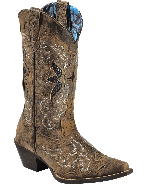 laredo women 39 s lucretia studded snake inlay cowgirl boots snip toe sheplers. Black Bedroom Furniture Sets. Home Design Ideas