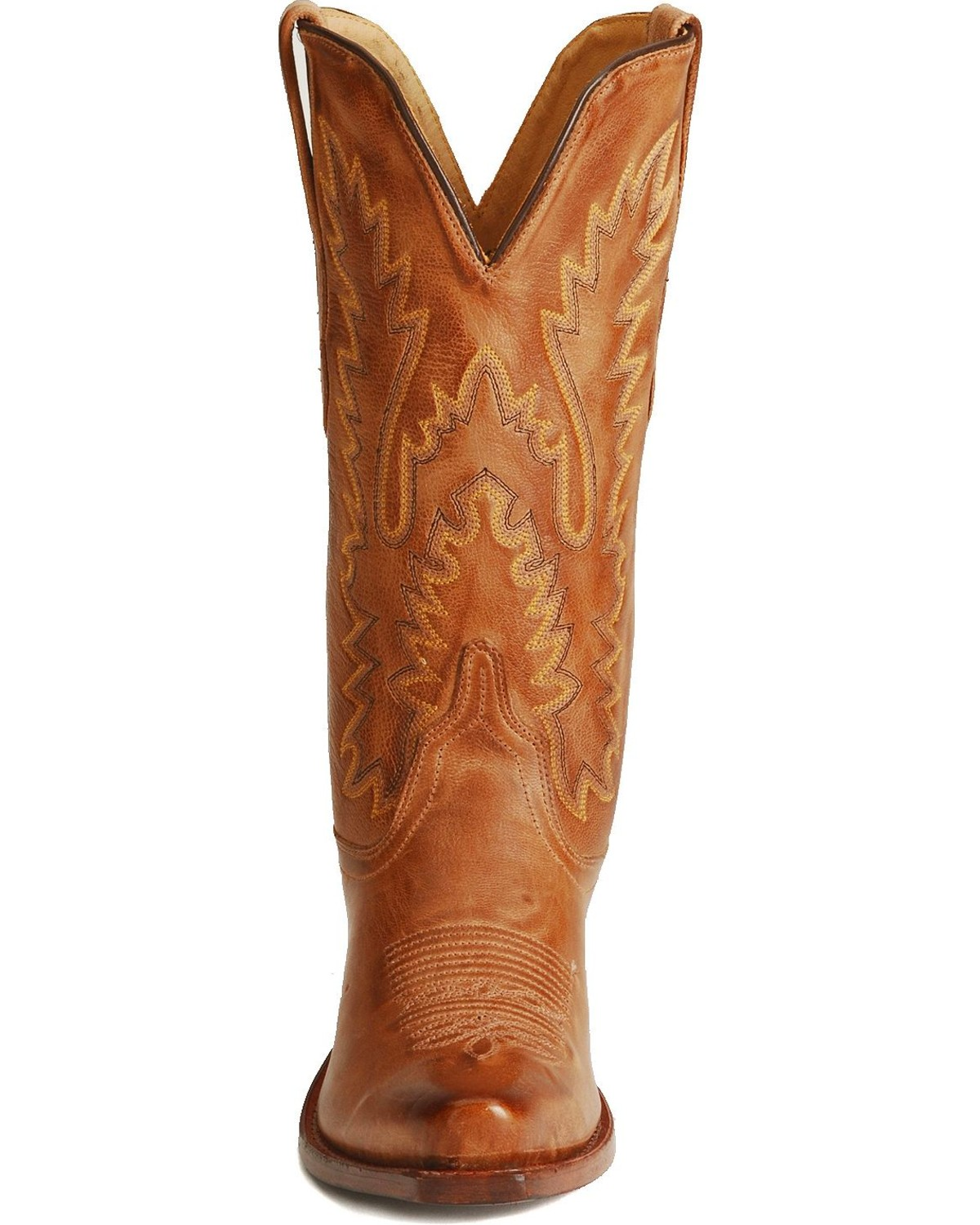 Old West Distressed Leather Cowgirl Boots - Snip Toe | Sheplers