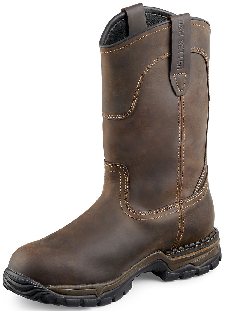 Red Wing Irish Setter Two Harbors Pull-On Work Boots - Steel Toe ...