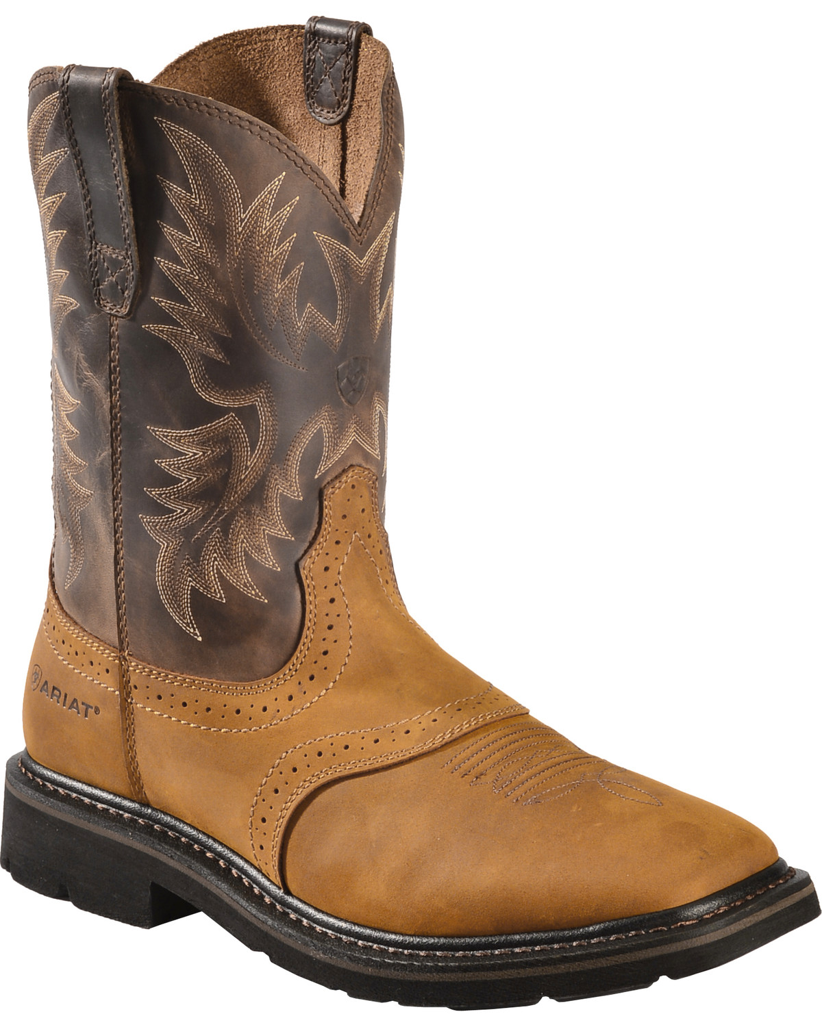 Ariat Sierra Pull-On Western Work Boots - Square Toe | Sheplers