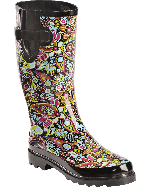 Blazin Roxx Paisley Rain Boots - Round Toe | Sheplers
