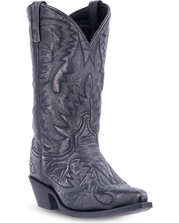 Laredo Men S Garrett Distressed Western Boots Snip Toe
