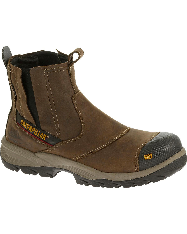 Caterpillar Men S Brown Jointer Waterproof Work Boots