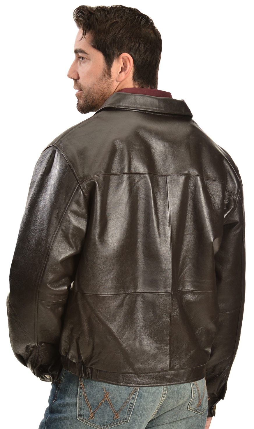 Vintage Leather Men's Brown Leather Bomber Jacket | Sheplers
