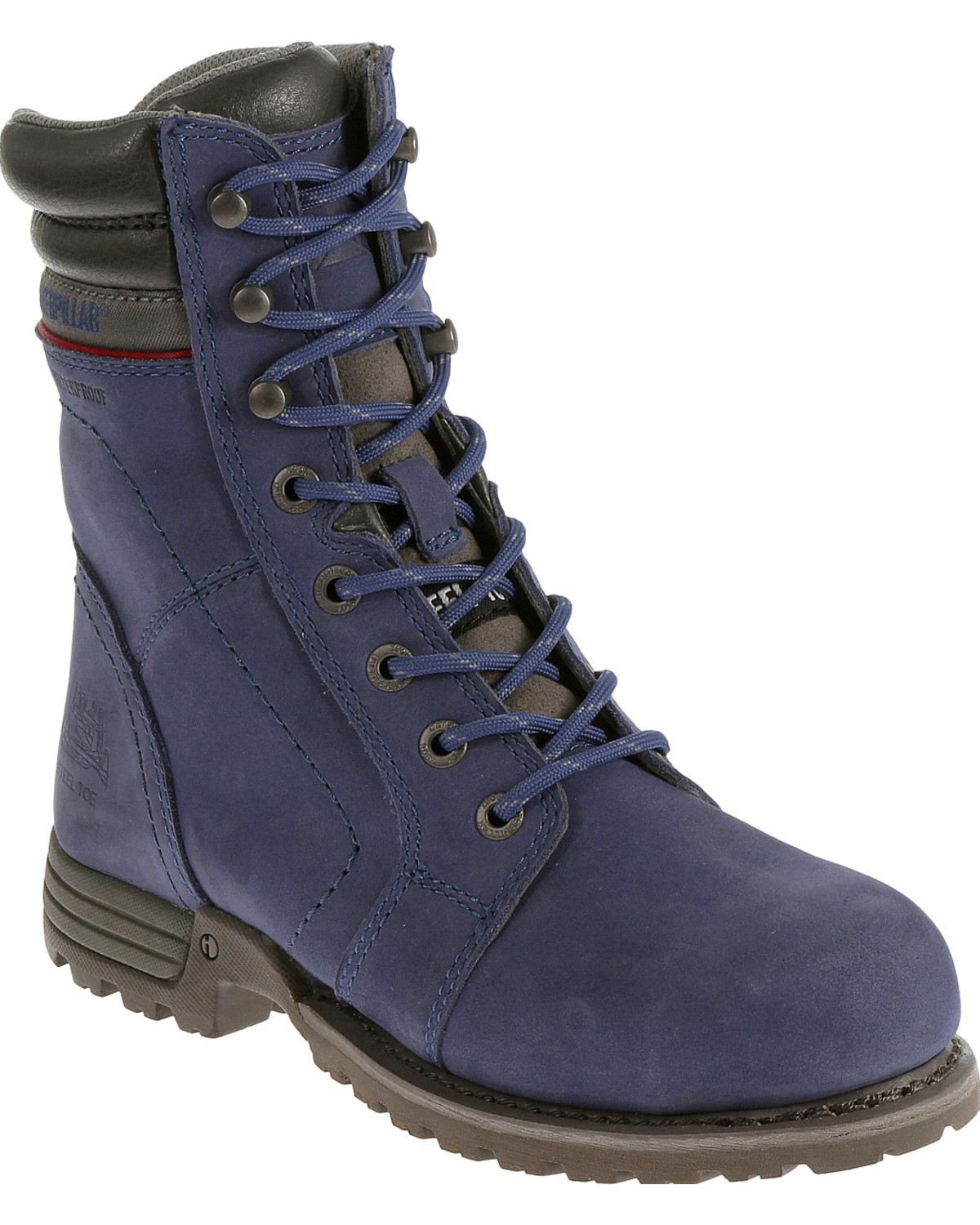 Caterpillar Women S Purple Echo Waterproof Work Boots