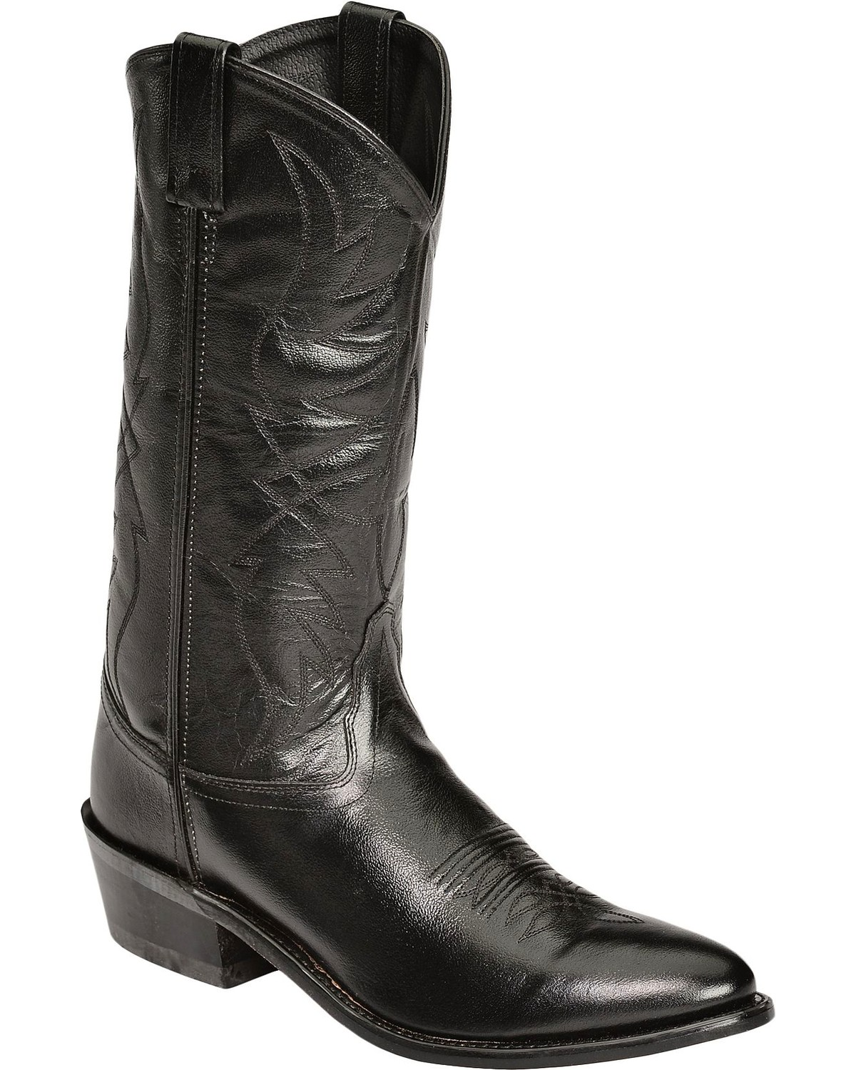 Old West Smooth Leather Cowboy Boots - Medium Toe | Sheplers