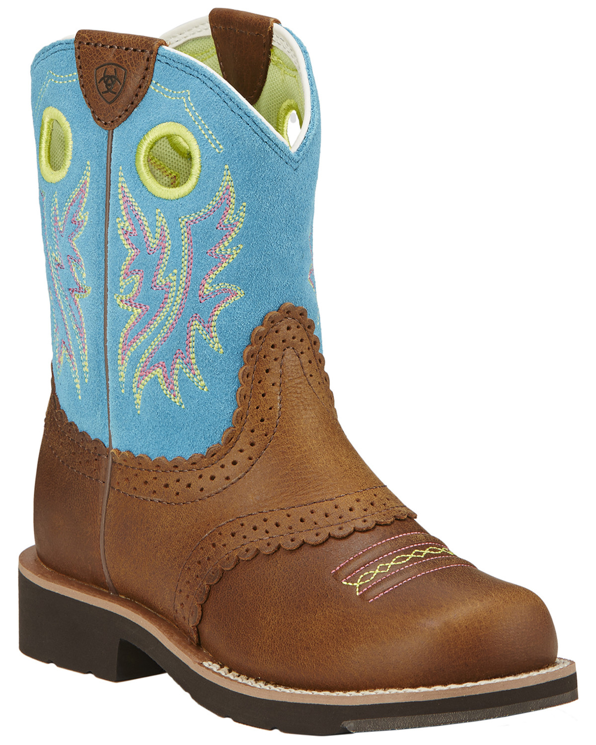 Ariat Fatbaby Girls Blue Cowgirl Boots Round Toe Sheplers