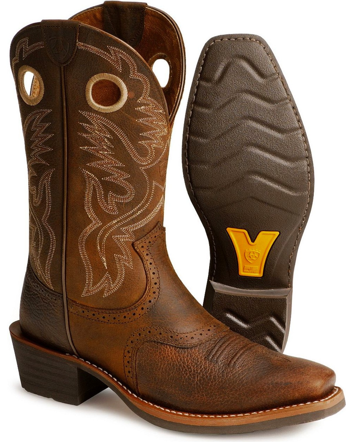 Ariat Heritage Rough Stock Cowboy Boots - Square Toe | Sheplers