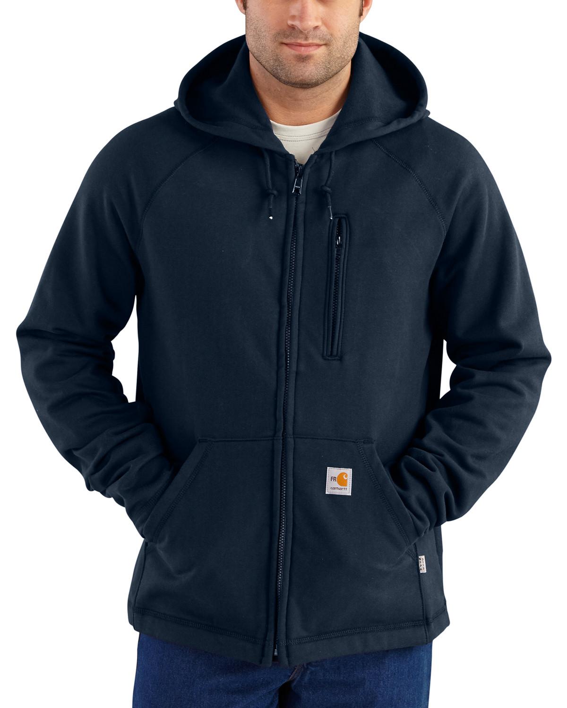Carhartt Men's Flame Resistant Force Hooded Fleece Jacket - Big ...