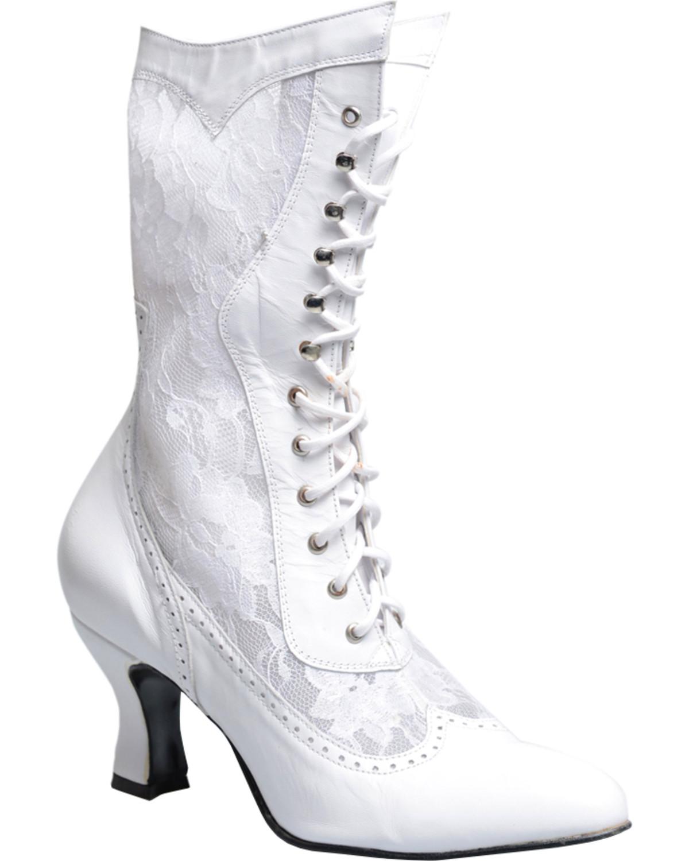 Oak Tree Farms Women S White Jennie Boots Medium Toe Sheplers