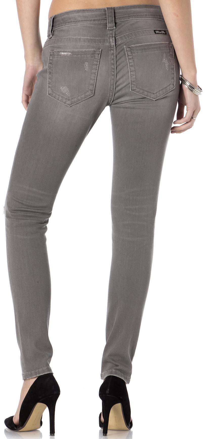 Miss Me Women's Get Ripped Grey Skinny Jeans | Sheplers
