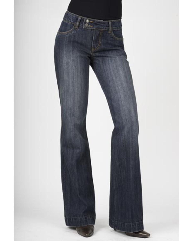 Stetson Women's 214 Fit City Dark Indigo Trouser Jeans   Sheplers