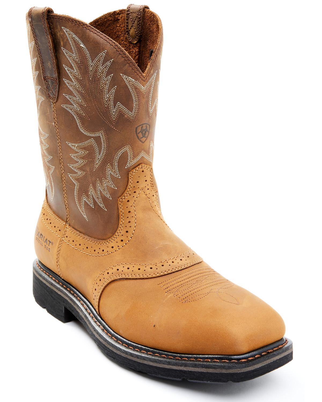 Ariat Sierra Saddle Work Boots - Steel Toe | Sheplers