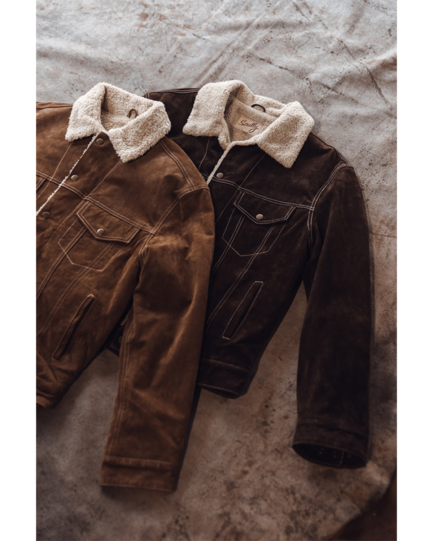 Scully Sherpa Lined Boar Suede Jacket Sheplers