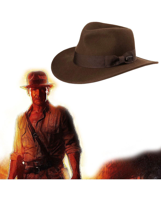 88e255ecbb53c Indiana Jones Crushable Wool Fedora Hat