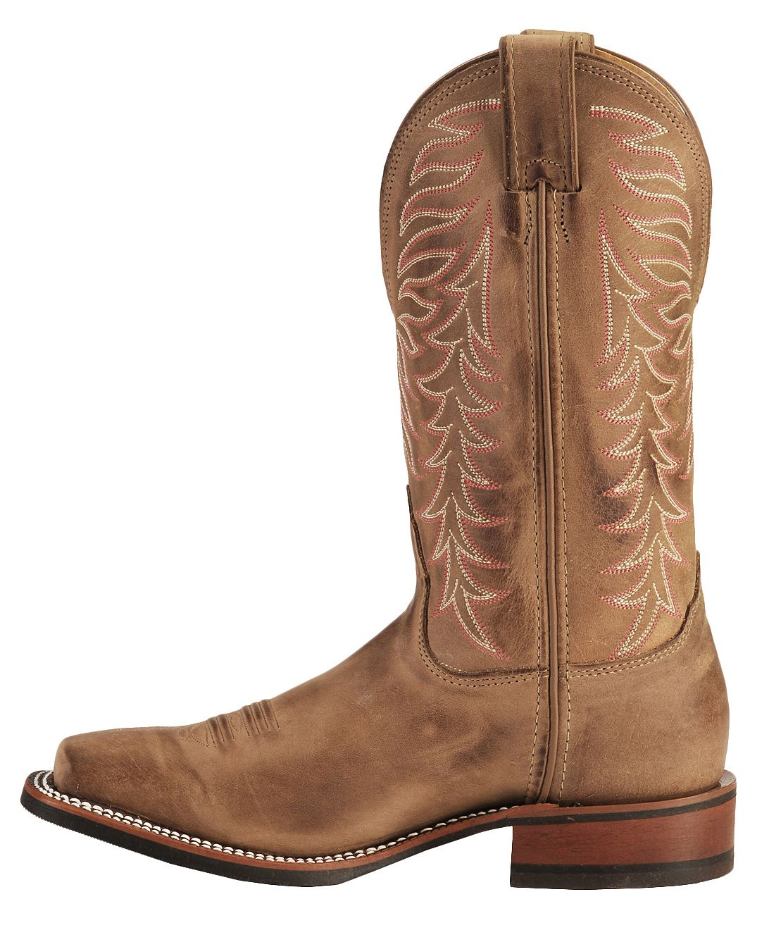 Nocona Fancy Stitched Rubber Sole Distressed Cowgirl Boots ...