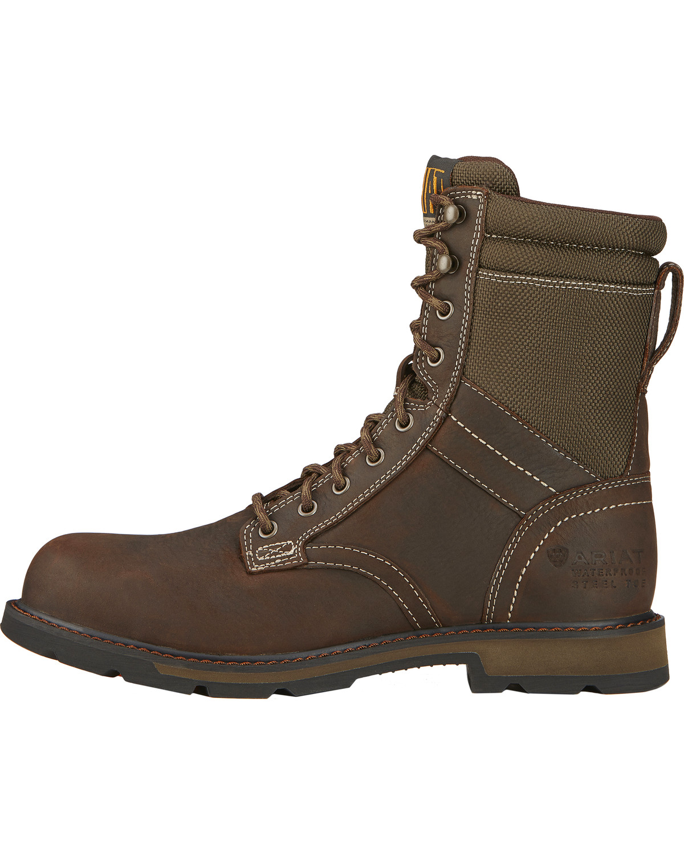 Ariat Men&39s 8&quot Groundbreaker Waterproof Work Boots - Steel Toe
