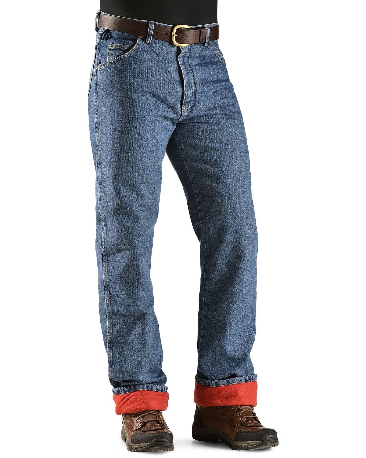Wrangler Jeans Rugged Wear Relaxed Fit Flannel Lined