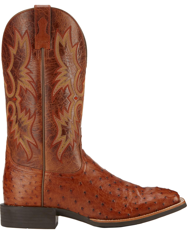 Ariat Quantum Classic Full Quill Ostrich Cowboy Boots - Square Toe ...