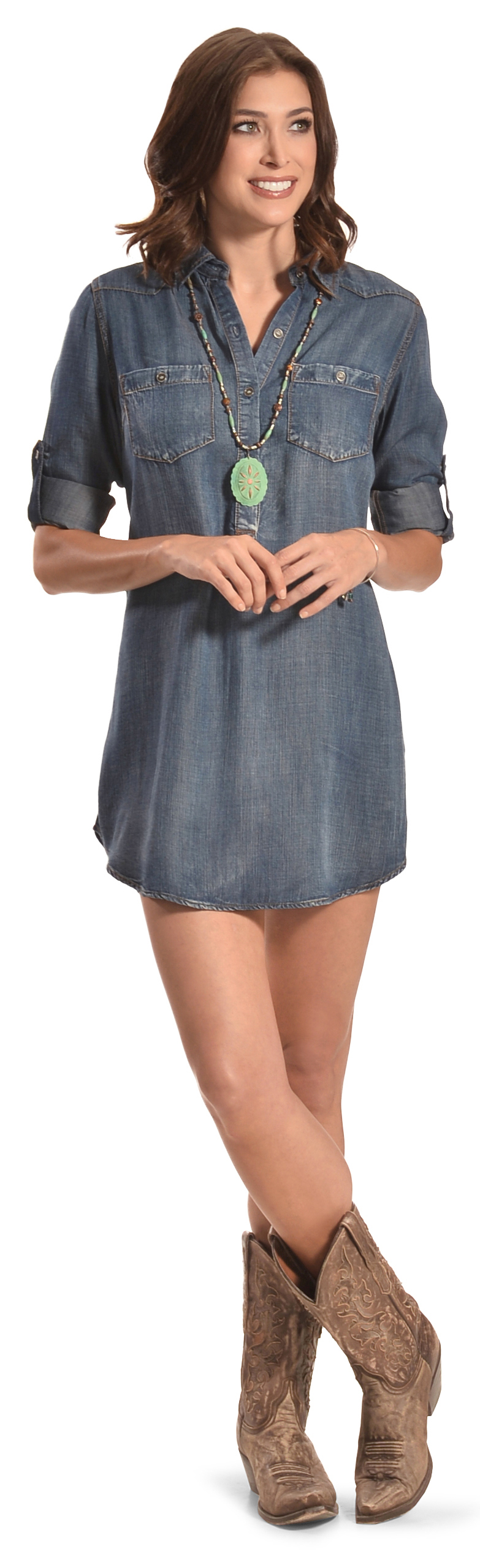 Cowgirl Justice Women's Durango Tencel Denim Tunic Dress | Sheplers