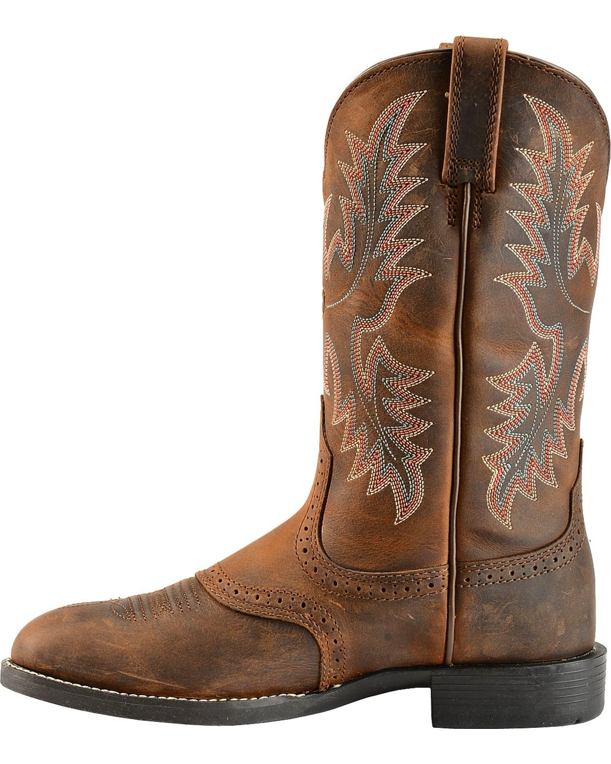 Ariat Heritage Stockman Saddle Vamp Cowgirl Boots - Round Toe ...