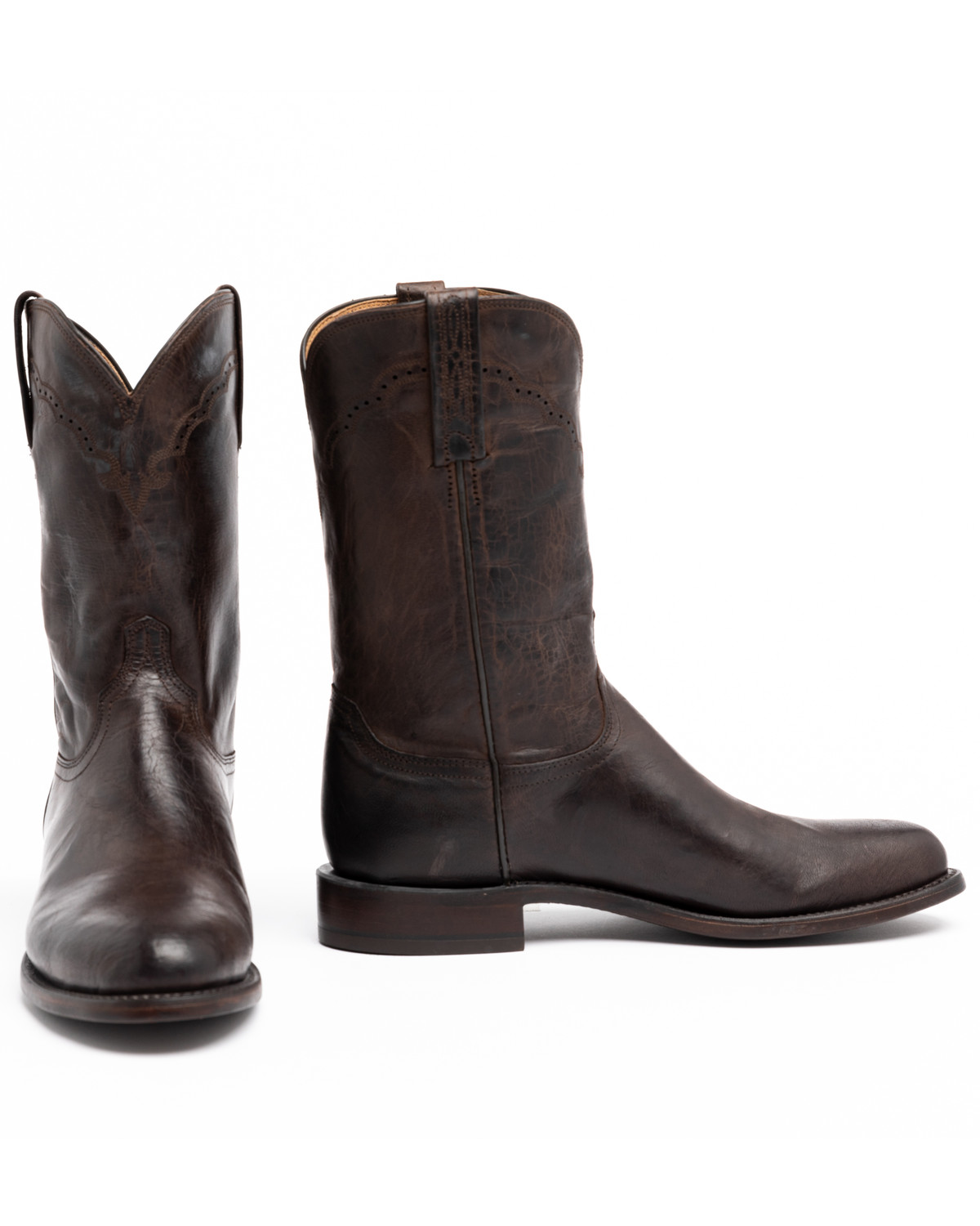 Lucchese 1883 Madras Goat Roper Boots Round Toe Sheplers