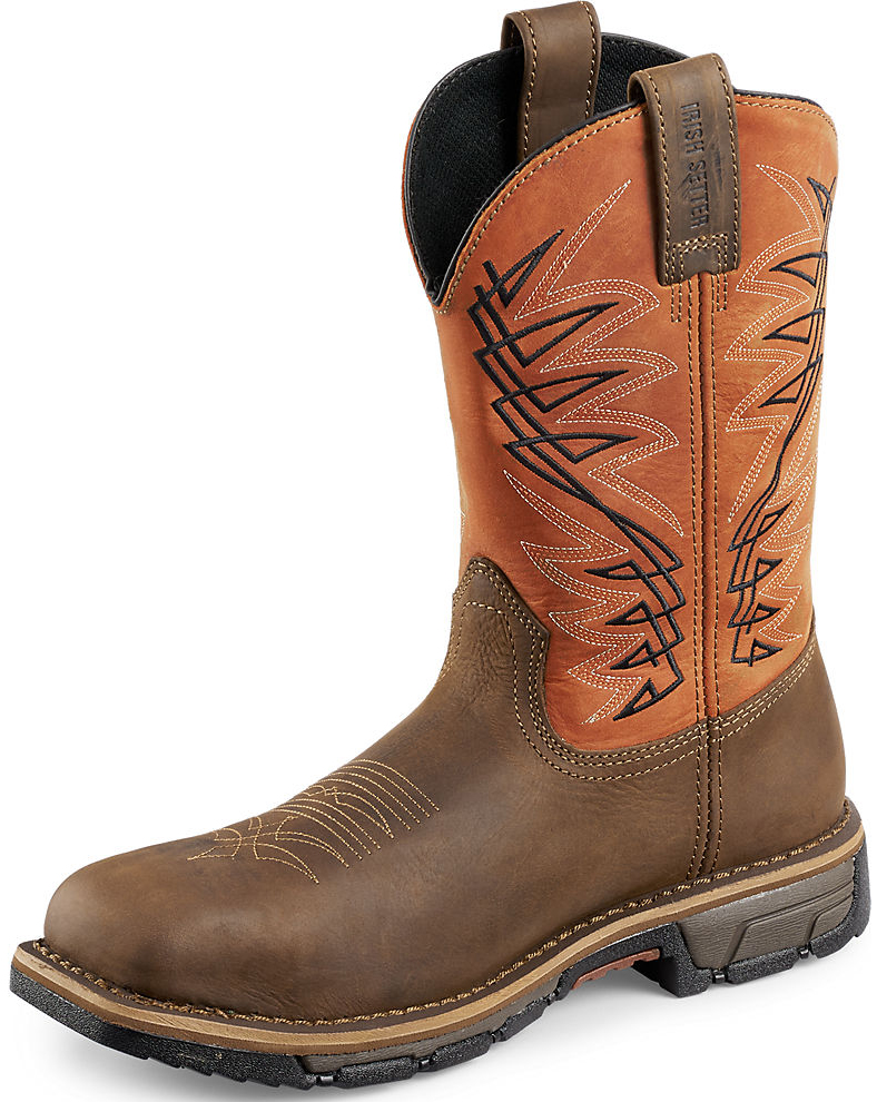 Red Wing Irish Setter Men's Rust Marshall Work Boots - Steel Toe ...